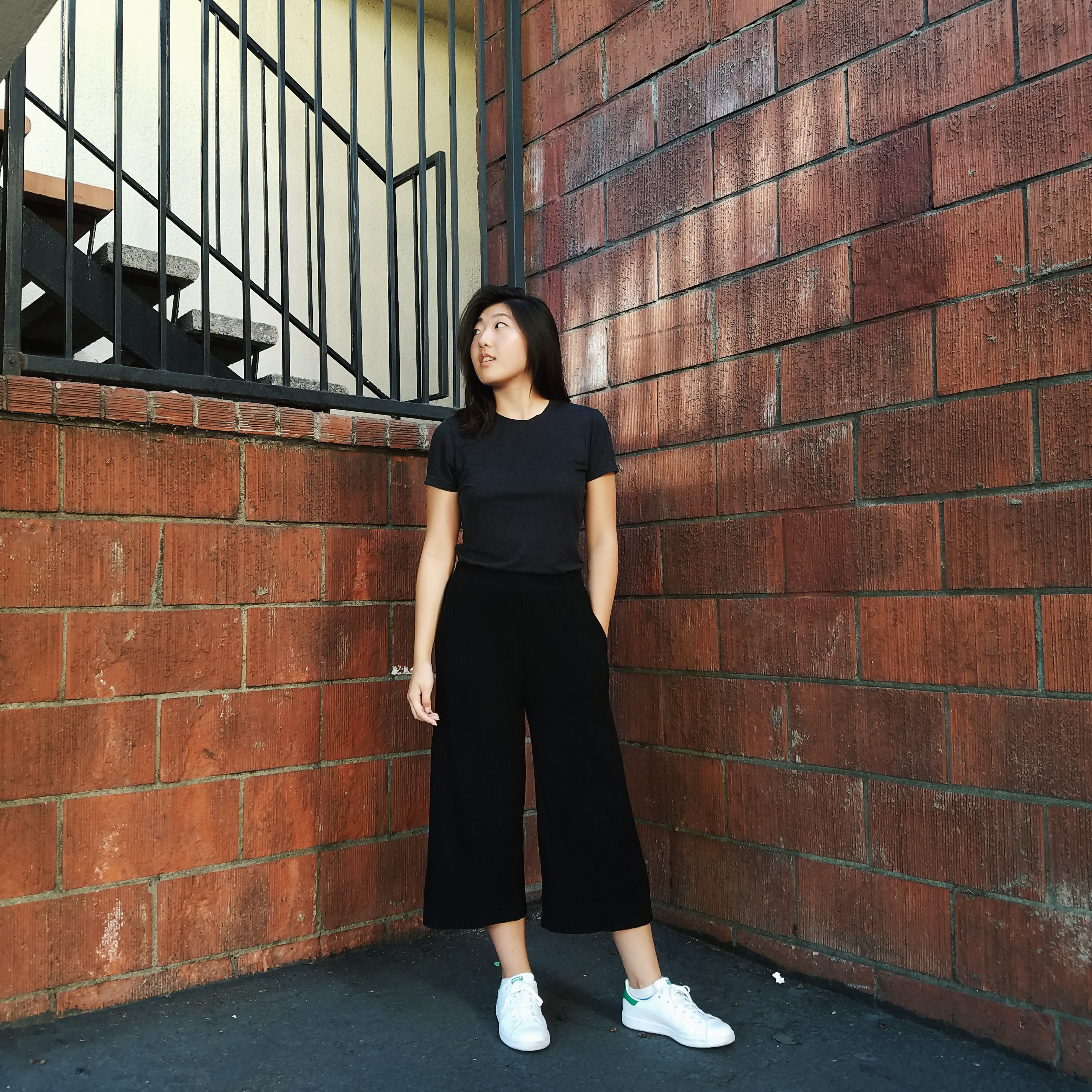 An Essential: Black Culottes